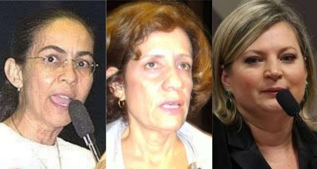 Fotomontagem: Heloísa Helena, Miriam Leitão e Joice Hasselmann