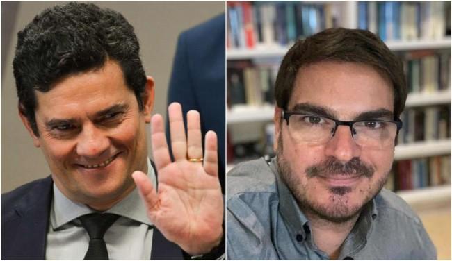 Fotomontagem: Sérgio Moro e Rodrigo Constantino