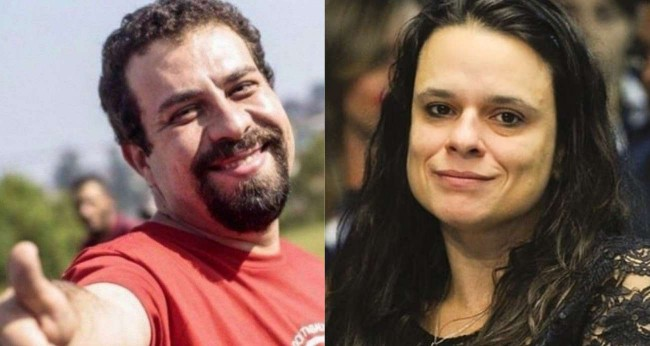 Fotomontagem: Guilherme Boulos e Janaína Paschoal
