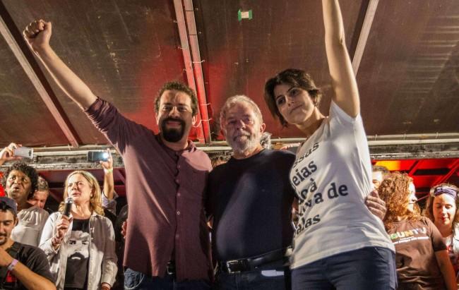 Boulos, Lula e Manuela