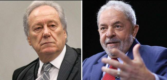 Ricardo Lewandonski e Luiz Inácio Lula da Silva