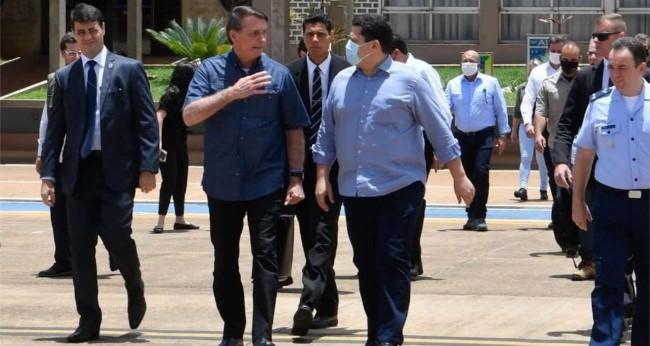Jair Bolsonaro e Davi Alcolumbre no Amapá