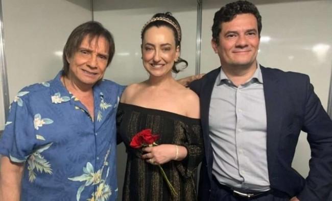 Roberto Carlos, Rosângela e Sérgio Moro