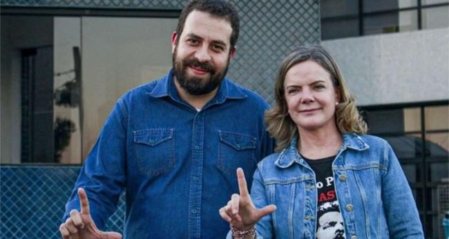 Guilherme Boulos e Gleisi Hoffmann