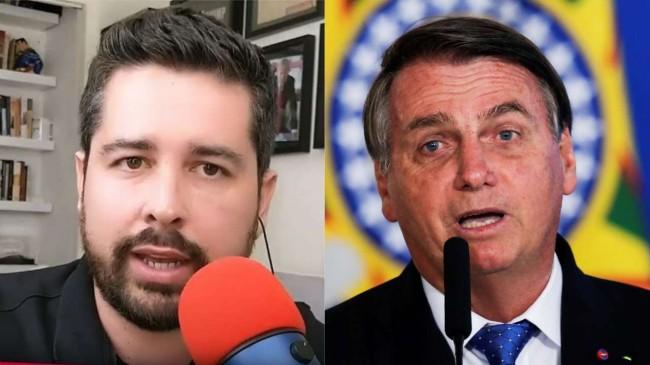 Fotomontagem: Paulo Figueiredo Filho e Jair Bolsonaro