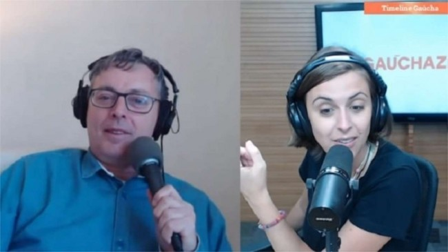David Coimbra e Kelly Mattos