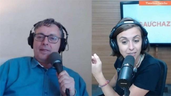 Jornalistas da Rádio Gaúcha, David Coimbra e Kelly Mattos