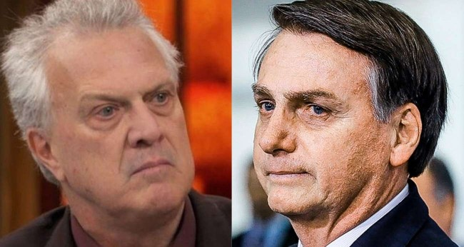 Fotomontagem: Pedro Bial e Jair Bolsonaro