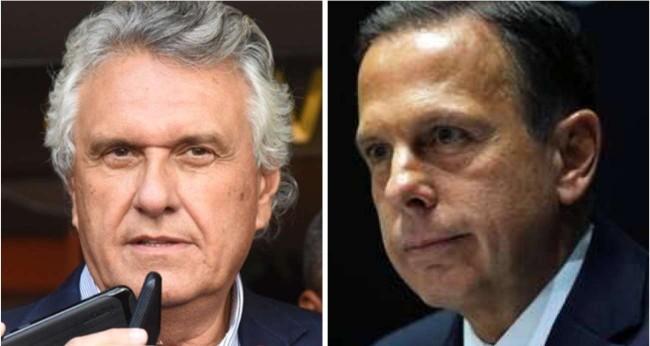 Fotomontagem: Ronaldo Caiado e João Doria