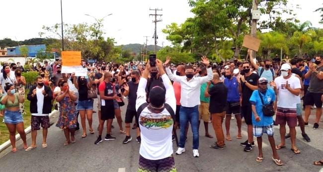 Manifestação em Búzios