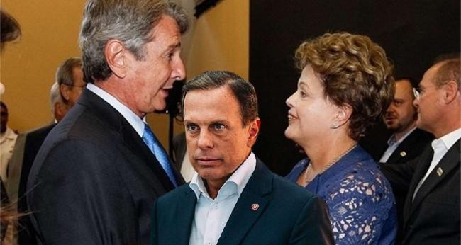 Fotomontagem: Collor, Doria e Dilma