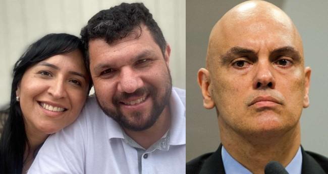 Fotomontagem: Sandra Terena, Oswaldo Eustáquio e Alexandre de Moraes