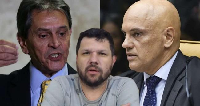 Fotomontagem: Roberto Jefferson, Oswaldo Eustáquio e Alexandre de Moraes