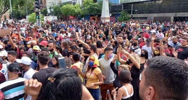 Foto Reprodução/Internet - Protesto no AM