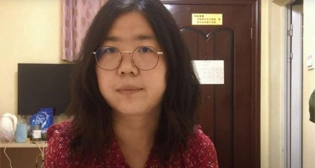 Natural de Xangai, Zhang Zhan viajou em fevereiro para cobrir a pandemia em Wuhan - HANDOUT / YOUTUBE