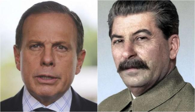 Doria e Stalin - Fotomontagem