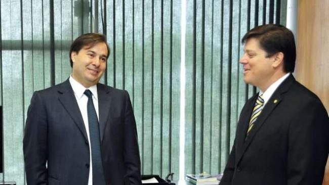 Maia e seu candidato, Baleia Rossi - Foto: Alex Ferreira/Câmara dos Deputados