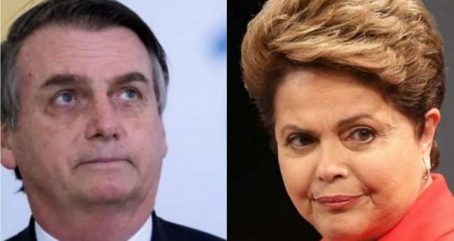 Fotomontagem: Jair Bolsonaro e Dilma Rousseff