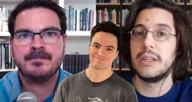 Fotomontagem: Rodrigo Constantino, Felipe Neto e Joel Pinheiro