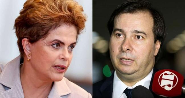 Fotomontagem: Dilma Rousseff e Rodrigo Maia