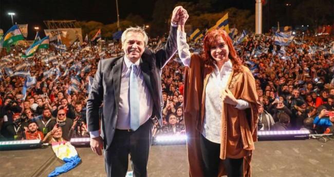 Presidente da Argentina, Alberto Fernandez e sua vice Cristina Kirchner