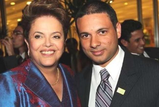 Dilma e Diogo Santana