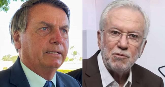 Fotomontagem: Jair Bolsonaro e Alexandre Garcia