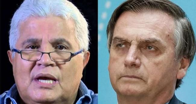 Fotomontagem: Ricardo Noblat e Jair Bolsonaro