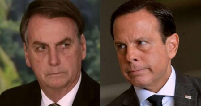 Fotomontagem: Jair Bolsonaro e João Doria