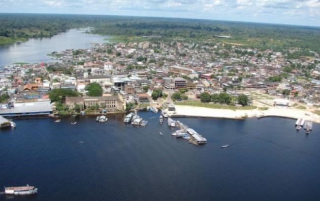 Vista de cima da cidade de Manaus