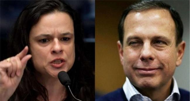 Fotomontagem: Janaína Paschoal e João Doria