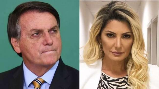 Fotomontagem: Jair Bolsonaro e Antônia Fontenelle