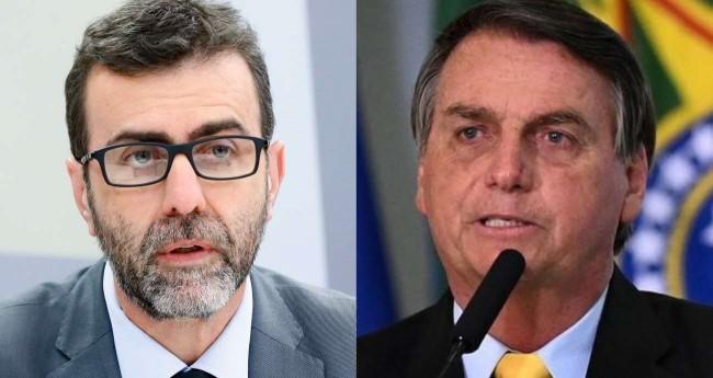 Fotomontagem: Marcelo Freixo e Jair Bolsonaro