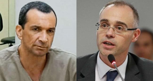 Fotomontagem: Marcola, líder do PCC e André Mendonça, ministro da Justiça e Segurança Pública