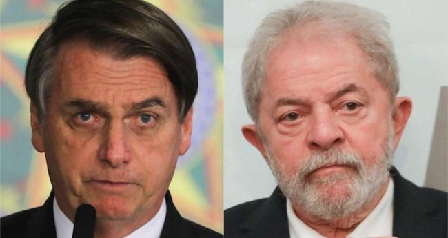 Fotomontagem: Jair Bolsonaro e Lula