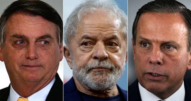 Fotomontagem: Jair Bolsonaro, Lula e João Doria