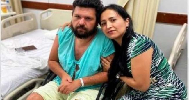 Oswaldo Eustáquio e sua esposa Sandra Terena