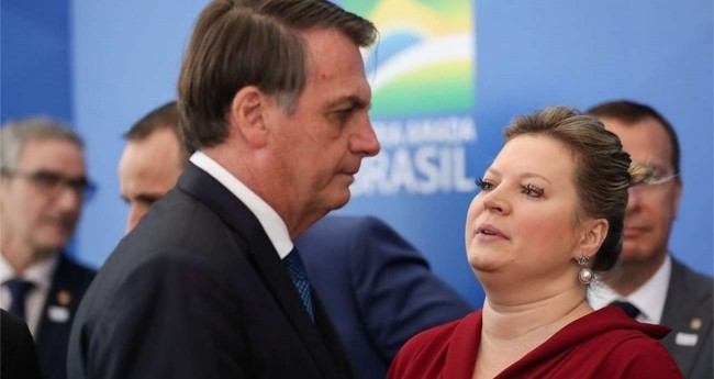 Jair Bolsonaro e Joice Hasselmann