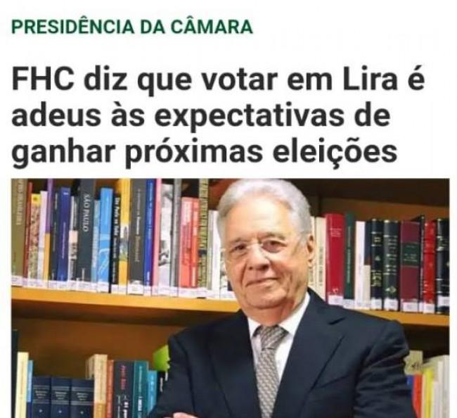 O recado de FHC para os deputados do PSDB