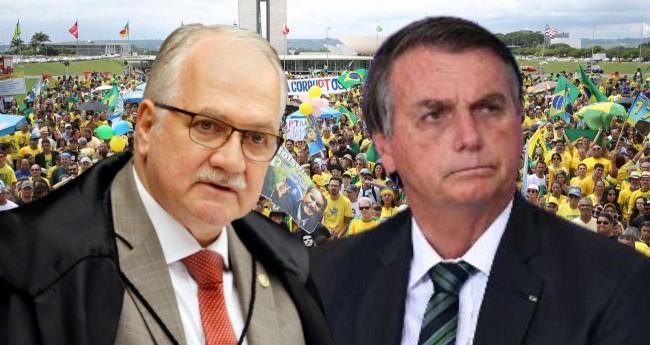 Fotomontagem: Edson Fachin e Jair Bolsonaro