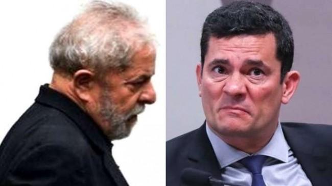 Fotomontagem. Créditos: Lula (arquivo Agência Brasil) e Sérgio Moro (Lula Marques)