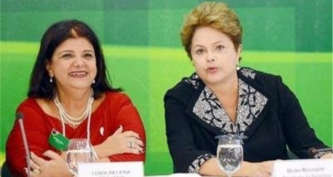 Foto: Luiza Trajano e Dilma Roussef, amigas de longa data