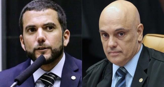 Fotomontagem: Carlos Jordy e Alexandre de Moraes (Crédito: Reprodução/Internet e Carlos Moura/SCO/STF)