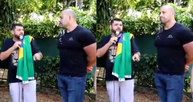 Oswaldo Eustáquio e Daniel Silveira