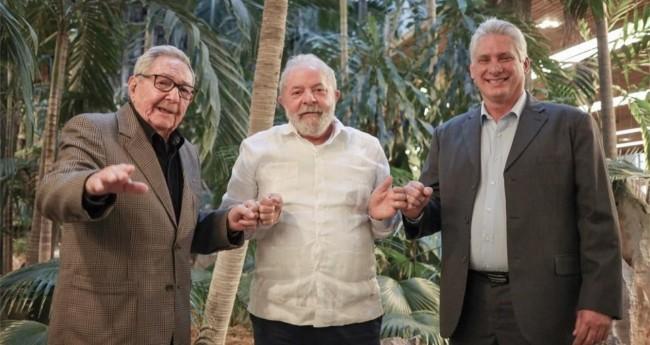 Lula no encontro com o presidente de Cuba, Miguel Díaz-Canel - Foto: Divulgação/Instituto Lula
