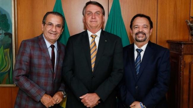 Foto: Silas Malafaia, Jair Bolsonaro e César Augusto