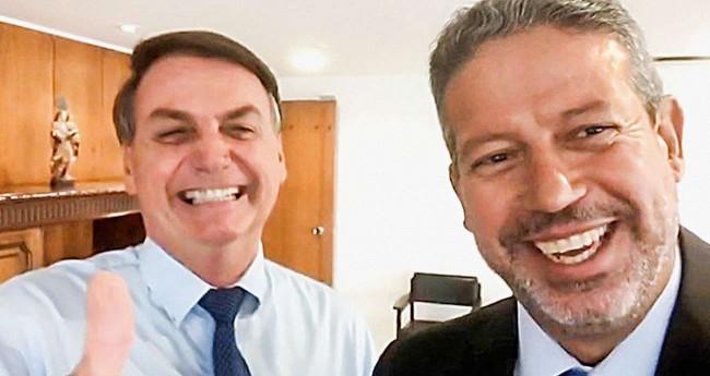 Jair Bolsonaro e Arthur Lira - Foto Reprodução: Redes Sociais