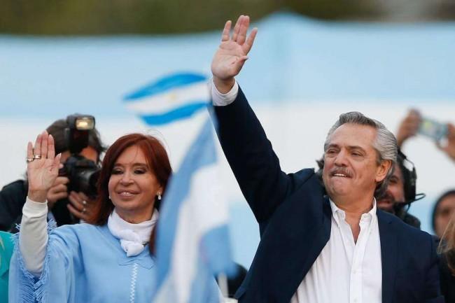 Cristina Kirchner e Alberto Fernández, juntos, mas não pelo povo argentino - Reprodução internet