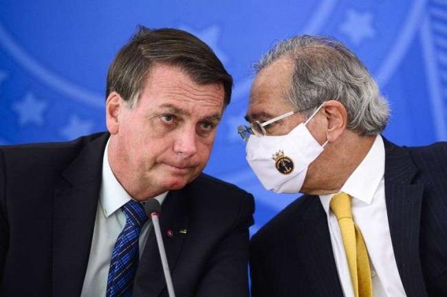 Bolsonaro e Guedes - Na luta para a equilibrar a economia - Reprodução internet