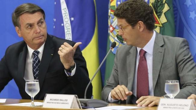 Jair Bolsonaro e Ricardo Salles - Foto: Fábio Rodrigues Pozzebom/Agência Brasil